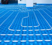 Tubazioni in polietilene di un impianto radiante a pavimento