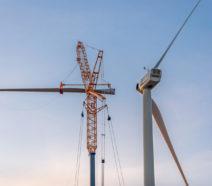 Construstion of wind turbine.